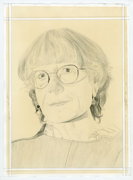 Portrait of Hanne Tierney, pencil on paper by Phong Bui.