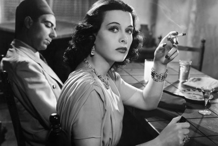 Film still of Hedy Lamarr in Algiers