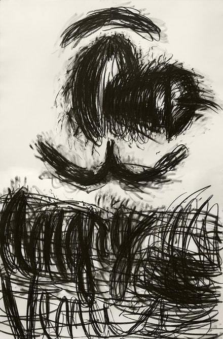 Judith Bernstein, <em>Angry Venus</em>, (1995), Charcoal on Paper, 96 x 72 inches. Courtesy the artist.