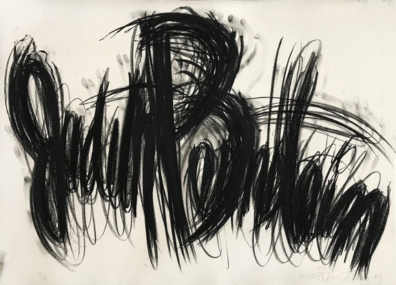 Judith Bernstein,<em> Signature</em>, (1995), Charcoal on Paper, 29.5 x 41.5 inches. Courtesy the artist.