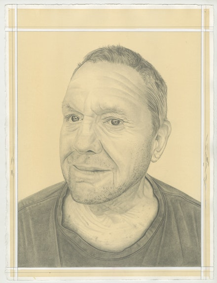 Portrait of Robert Grosvenor, pencil on paper by Phong Bui.