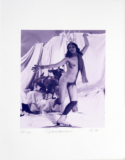 <em>Naked Ice Skating</em>, (1972), Fluxus event photographed by Anthony McCall in London.