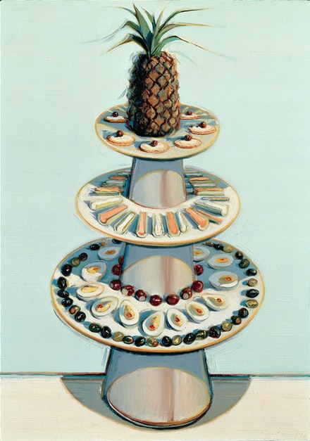 Wayne Thiebaud, <em>Pineapple Tray</em>, 1972/1990/1992. The Doris and Donald Fisher Collection at the San Francisco Museum of Modern Art. &copy; Wayne Thiebaud / Licensed by VAGA, New York.