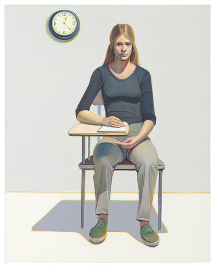 Wayne Thiebaud, <em>Student</em>, 1968. The Doris and Donald Fisher Collection at the San Francisco Museum of Modern Art. © Wayne Thiebaud / Licensed by VAGA at ARS, New York. Photo: Katherine Du Tiel.