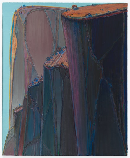 Wayne Thiebaud, <em>Canyon Mountains</em>, 2011–12. San Francisco Museum of Modern Art, purchase, by exchange, through fractional gifts of Gretchen and John Berggruen and Madeleine Haas Russell, and gift of the Thiebaud family. Photo: Katherine Du Tiel.