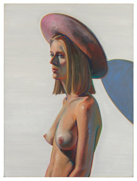Wayne Thiebaud, <em>Girl with a Pink Hat</em>, 1973. San Francisco Museum of Modern Art, gift of Jeannette Powell. © Wayne Thiebaud / Licensed by VAGA, New York. Photo: Don Ross.
