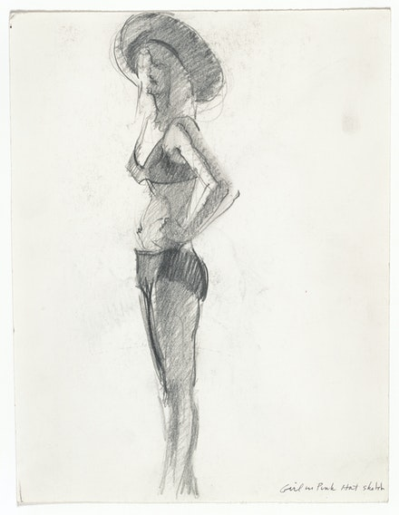 "Wayne Thiebaud, <em>Sketch for ""Girl with a Pink Hat,""</em> 1973. San Francisco Museum of Modern Art, gift of Betty Jean and Wayne Thiebaud. © Wayne Thiebaud / Licensed by VAGA, New York. Photo: Don Ross."