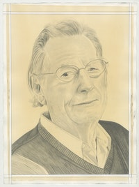 Portrait of Wayne Thiebaud, pencil on paper by Phong Bui.