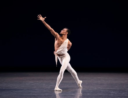Taylor Stanley in George Balanchine's <em>Apollo</em>. Photo: Erin Baiano.