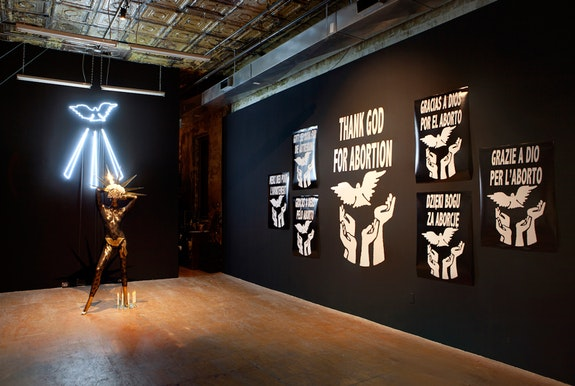 Installation view: <em>Viva Ruiz: ProAbortion Shakira: A Thank God For Abortion Introspective</em>, Participant INC, New York, 2019. Courtesy Participant INC.