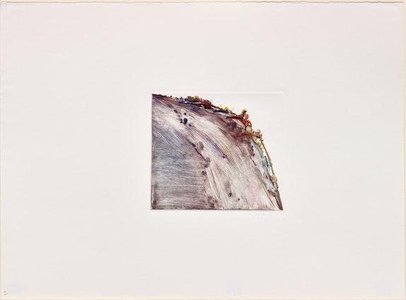 Wayne Thiebaud, <em>Untitled (Ridge)</em>, 1977. Oil monotype, 22 x 29 7/8 inches. Courtesy Paul Thiebaud Gallery.