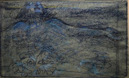 Alphonse Mucha (1860-1939), <em>Vision</em>, c. 1900. Pastel on paper, 30 x 55 cm. Fondation Mucha.