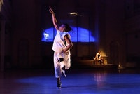 <p>Ni'Ja Whitson performing <em>Oba Qween Baba King Baba</em> in 2018. Photo: Ian Douglas</p>