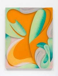 Lesley Vance, <em>Untitled</em>, 2019. Oil on linen, 36 x 28 inches. Courtesy Bortolami, New York.