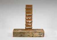 Charles LeDray, <em>A Course of Empire Bricks</em>, 2015–2017. Clay, mortar, wood, metal, 16 3/4 x 16 7/8 x 9 1/2 inches. Courtesy the artist and Peter Freeman, Inc. Photo: Nicholas Knight Studio.
