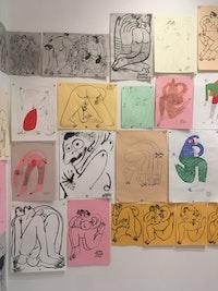 Installation view: <em>Jeffrey Cheung, Muddguts</em>, Brooklyn, 2019. Courtesy Muddguts.