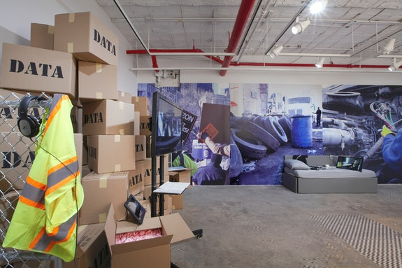 Brett Wallace, <em>Working Conditions</em>, Installation, NURTUREart Gallery, New York, 2019. Photo: David Riley