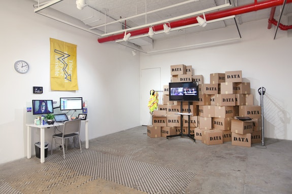Brett Wallace, <em>Working Conditions</em>, Installation, NURTUREart Gallery, New York, 2019. Photo: David Riley