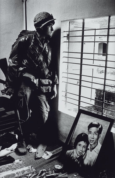 Don McCullin, <em>The Battle for the City of Hue, South Vietnam, US Marine Inside Civilian House, </em>1968. Courtesy the artist and Tate Britain.