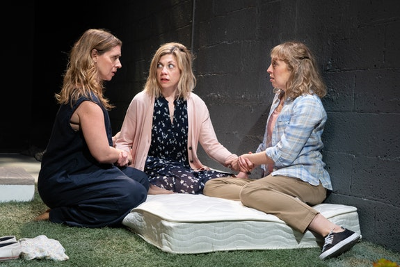 Left to right: Miriam Silverman, Susannah Flood and Crystal Finn in Clubbed Thumb's production of Will Arbery's <em>Plano</em>.