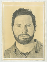Portrait of Brett Wallace. Pencil on Paper by Phong Bui.