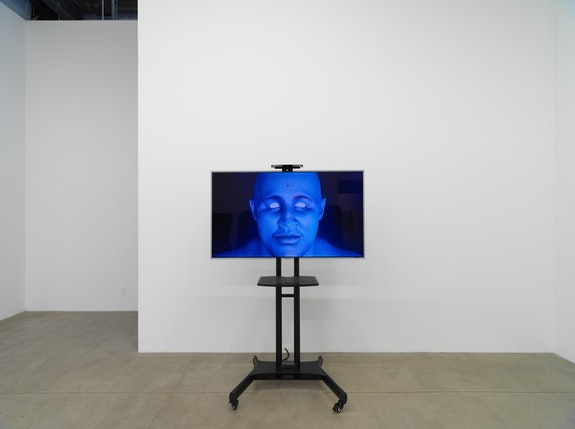 Installation view: <em>American Artist:  I'm Blue (If I Was</em> █████<em> I Would Die)</em>, Koenig & Clinton, Brooklyn, 2019. Courtesy the artist and Koenig & Clinton, Brooklyn. Photo: Jeffrey Sturges, New York.
