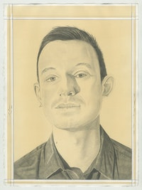 Portrait of Kyle Dacuyan, pencil on paper by Phong Bui.