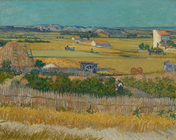Vincent van Gogh, <em>The Harvest</em>, 1888. Oil on canvas, 73.4 cm x 91.8 cm. Van Gogh Museum, Amsterdam (Vincent van Gogh Foundation).