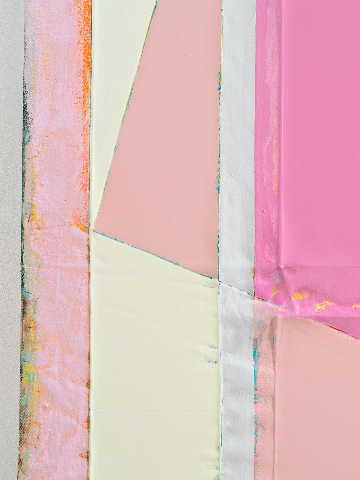 Julia Rommel, <em>41 First Dates </em>(detail), 2019. Oil on linen, 84 1/2 x 65 inches. Courtesy the artist and Bureau, New York. Photo: Dario Lasagni.