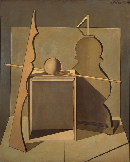 Giorgio Morandi, <em>Natura morta (Still Life)</em>, 1919, Oil on canvas, 56.5 x 47 cm, Pinacoteca di Brera, Milan, Courtesy of MiBAC, &copy; 2018 Artists Rights Society (ARS), New York / SIAE, Rome.