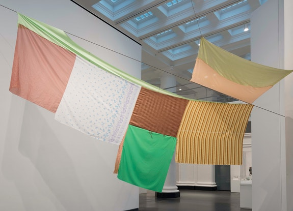 <p>Installation view: <em>Eric N. Mack: Lemme walk across the room</em>, Brooklyn Museum, 2019. Photo: Jonathan Dorado. Courtesy the Brooklyn Museum. </p>