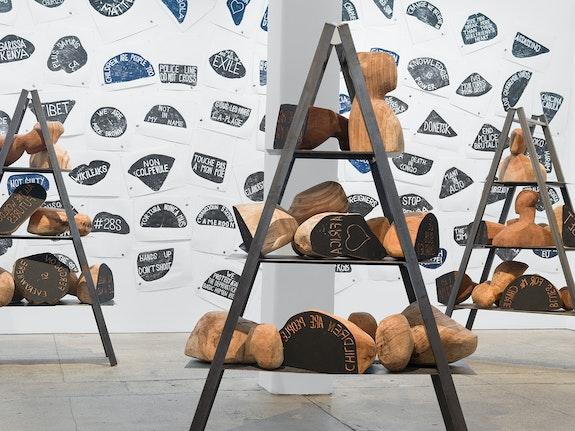 Installation view: Barthélémy Toguo: Urban Requiem, Galerie Lelong & Co., New York, 2019. © Barthélémy Toguo. Courtesy Galerie Lelong & Co., New York.