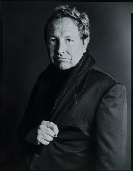 Timothy Greenfield-Sanders, <em>Portrait of Robert Rauschenberg for Comme des Garçons</em>, 1986. Gelatin silver print. © Timothy Greenfield-Sanders.