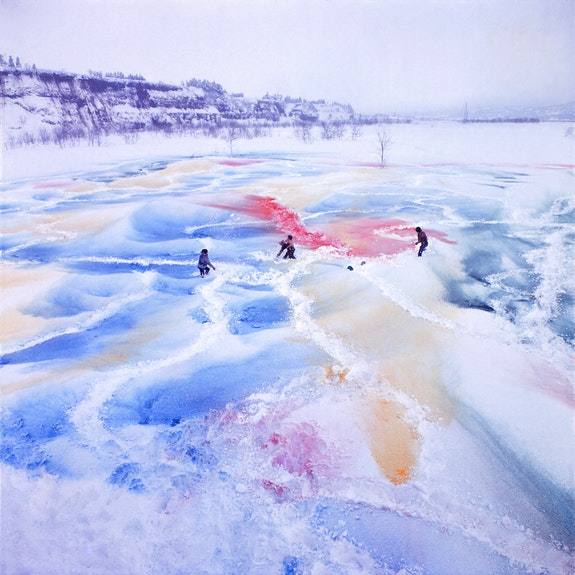 <p>GUN,<em> Event to Change the Image of Snow</em>, 1970. Documentation of performance. Photo © Hanaga Mitsutoshi.</p>