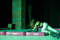 <i>Alexandra Bachzetsis: Escape Act. US Premiere at Pioneer Works, New York. Credit: © Walter Wlodarczyk</i>