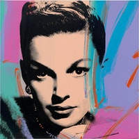 Andy Warhol, <em>Judy Garland (Multicolor), </em>1978. Acrylic and silkscreen on canvas, 40 x 40 inches. © 2019 The Andy Warhol Foundation for the Visual Arts, Inc. / Licensed by Artists Rights Society (ARS), New York. Photo: Tim Nighswander.