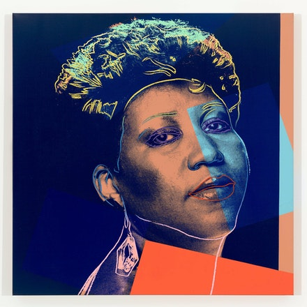 Andy Warhol, <em>Aretha Franklin</em>, 1986. Synthetic polymer paint and silkscreen ink on canvas 40 x 40 inches. © 2019 The Andy Warhol Foundation for the Visual Arts, Inc. / Licensed by Artists Rights Society (ARS), New York. Photo: Tim Nighswander.