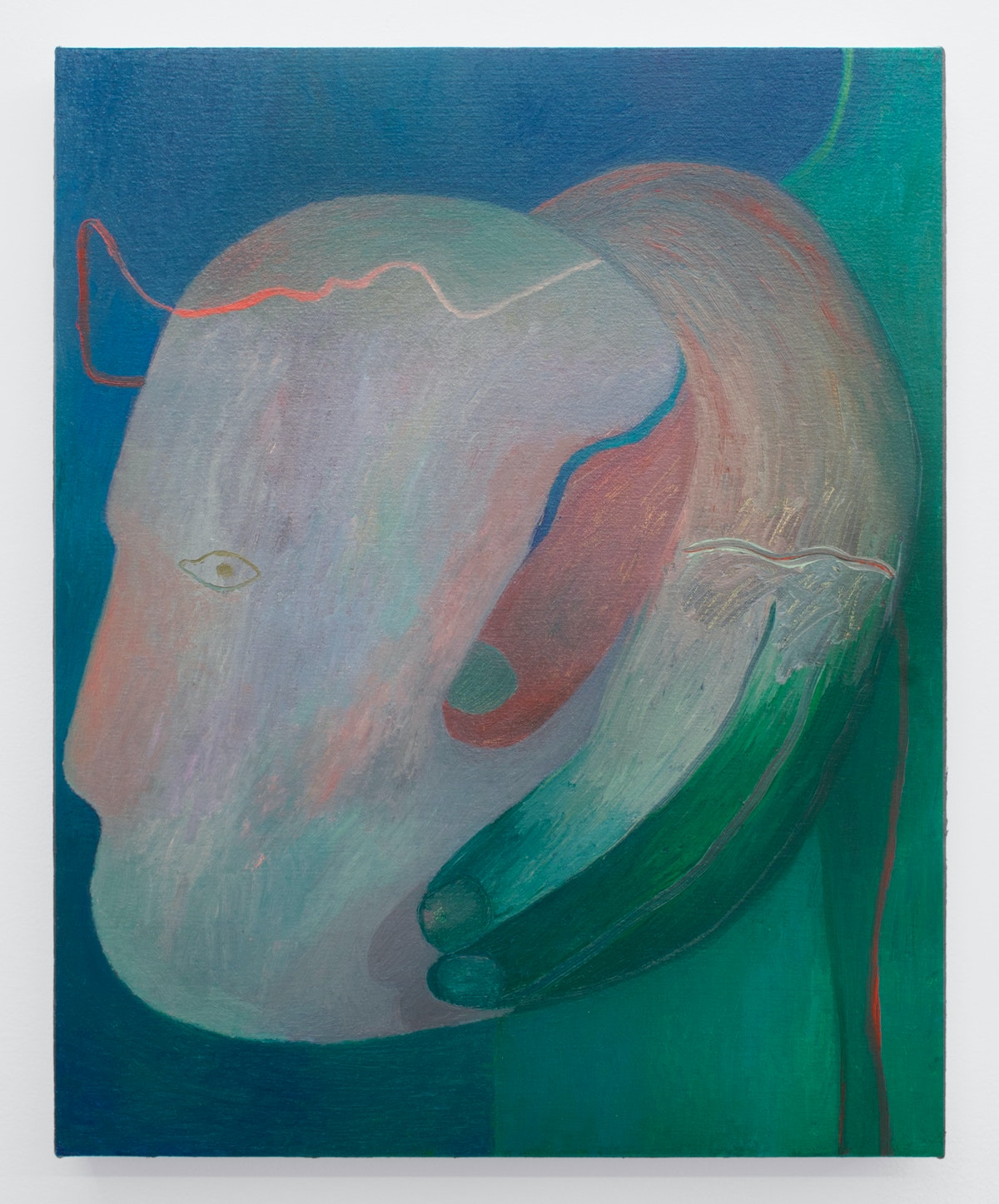 Zoe Avery Nelson, <em>Elegy for Z</em>, 2019. Oil on canvas, 20 x 16 inches. Courtesy Rubber Factory, New York.