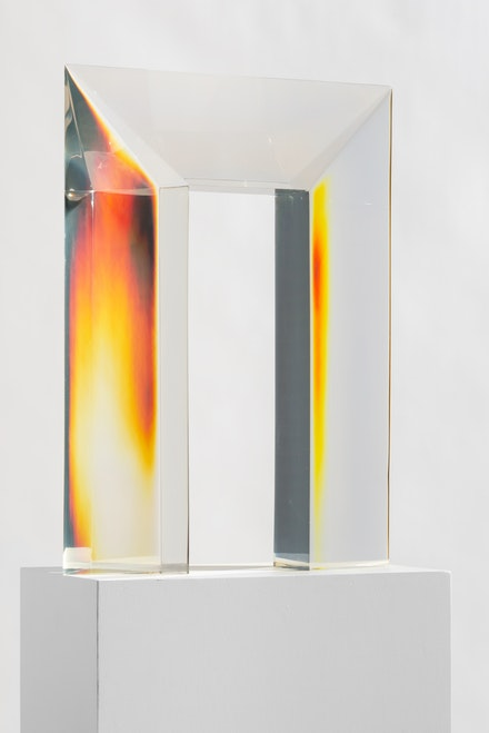 De Wain Valentine, <em>Clear Portal</em>, 1969–2014. Cast polyester resin, 24 x 17 1/2 x 4 inches. © De Wain Valentine. Courtesy the artist and Almine Rech.