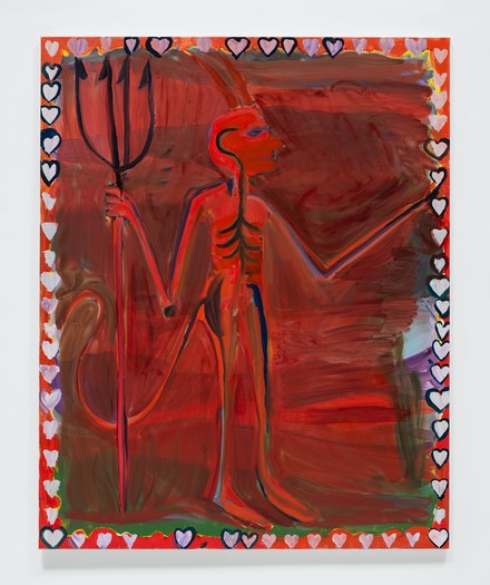 Josh Smith, <em>Devil</em>, 2019. &copy; Josh Smith. Courtesy the artist and David Zwirner.