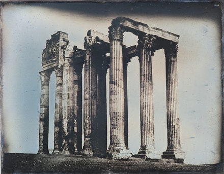 Joseph-Philibert Girault de Prangey, <em>Olympieion, Athens, Viewed from the East</em>, 1842. Daguerreotype, 7 1/16 x 9 7/16 inches. National Collection of Qatar.