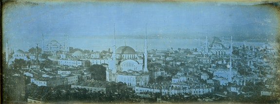 Joseph-Philibert Girault de Prangey, <em>Seraglio, Constantinople</em>, 1843. Daguerreotype, 3 3/4 x 9 7/16 inches. Pierre de Gigord Collection.