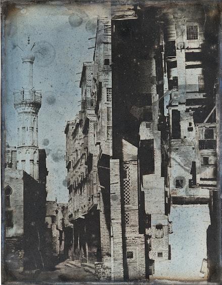 Joseph-Philibert Girault de Prangey, <em>Street in Rosetta</em>, 1842. Daguerreotype, 9 7/16 x 7 1/16 inches. Qatar Museum Collections.