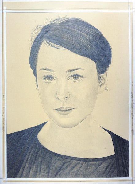 Portrait of Jane Benson, pencil on paper by Phong Bui.
