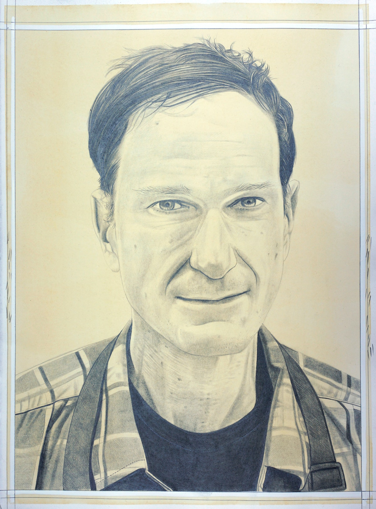 Portrait of Josh Smith, pencil on paper by Phong Bui.