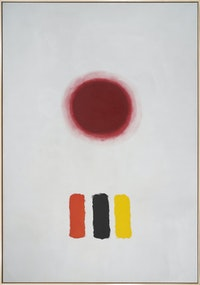 Adolph Gottlieb, <em>Icon</em>, 1964. Oil on canvas, 144 1/4 x 100 inches. © Adolph and Esther Gottlieb Foundation/Licensed by ARS, NY.