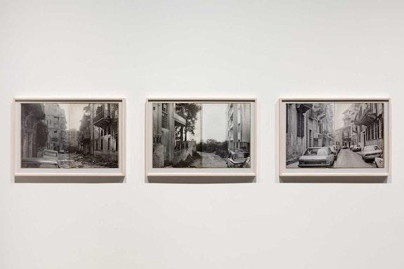 Walid Raad, <em>Sweet Talk: Commissions (Beirut) _1991</em>, 2019. Archival inkjet prints, 20 x 28 3/4 inches each. © Walid Raad. Courtesy Paula Cooper Gallery, New York.