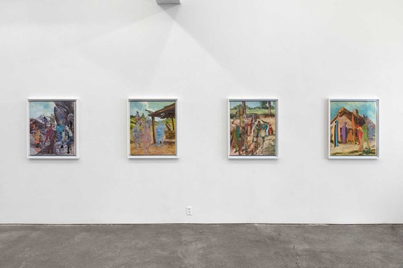 Walid Raad, Appendix 137, 2018. Archival inkjet prints mounted on Sintra, 34 5/8 x 29 1/4 inches each. © Walid Raad. Courtesy Paula Cooper Gallery, New York.