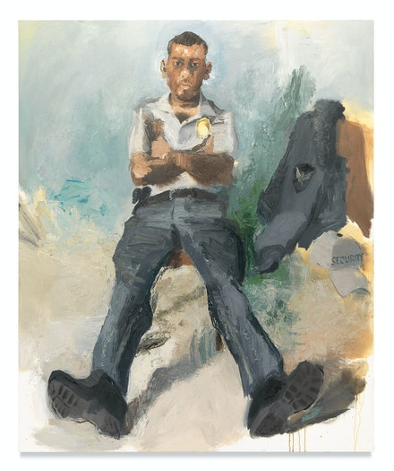 John Sonsini, <em>Roger</em>, 2014/2019. Oil on canvas, 72 x 60 inches. Courtesy the artist and Miles McEnery Gallery, New York, NY.