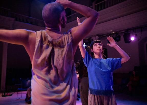 Tatyana Tenenbaum, <em>Tidal</em>, 2019, Danspace Project. Photo: Ian Douglas. Courtesy Danspace Project.